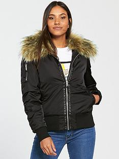 v-by-very-faux-fur-trim-bomber-jacket