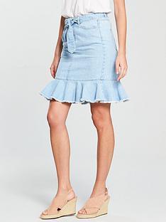 v-by-very-bleach-ruffle-denim-skirt-light-wash