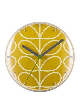 Orla Kiely  Linear Stem Dandelion Wall Clock