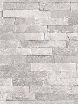 ARTHOUSE Arthouse Diamond Slate Wallpaper - Dove Grey Picture