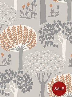 arthouse-bernwood-orange-and-grey-wallpaper