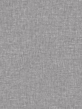 ARTHOUSE Arthouse Linen Texture Wallpaper - Mid Grey Picture