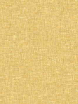 ARTHOUSE Arthouse Linen Texture Wallpaper - Ochre Picture