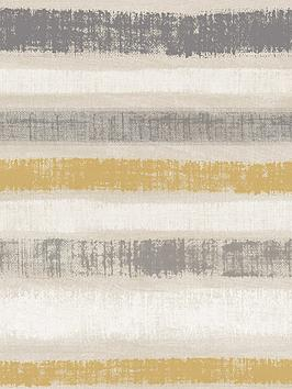 ARTHOUSE Arthouse Painted Stripe Wallpaper - Grey &Amp; Ochre Picture