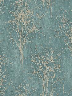 arthouse-floresta-teal-wallpaper