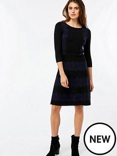 monsoon-joanna-jacquard-pattern-fit-and-flare-dress