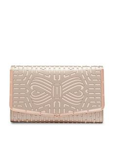 6e687cd805596 Ted Baker Bree Cut Out Bow Clutch Bag