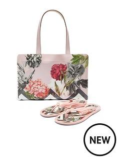 ted-baker-mable-palace-gardens-icon-flip-flop-handbag-set