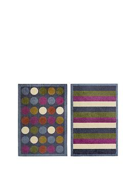 Very Spots And Stripes Doormats (2 Pack) Picture