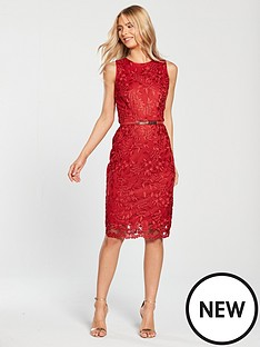 22732ae34b47 Phase Eight Alina Embroidered Dress - Carmine