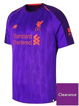 49ae58d1960 New Balance Liverpool FC Mens 18 19 Short Sleeved Away Shirt ...