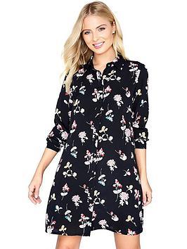 girls-on-film-black-based-floral-shirt-dress