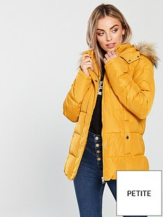v-by-very-petite-hooded-padded-coat-mustard