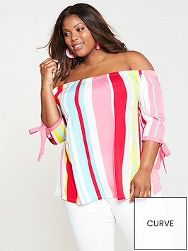 junarose-hila-off-the-shoulder-three-quarter-sleeve-blouse-lollipop