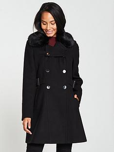 v-by-very-faux-fur-trim-double-breasted-coat-blackblue