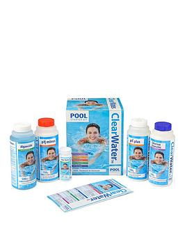 Product photograph showing Clearwater Clearwater Pool Starter Kit