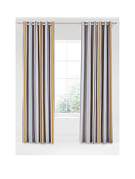 Scion Scion Lintu 100% Cotton Panama Lined Eyelet Curtains &Ndash; 168 X  ... Picture