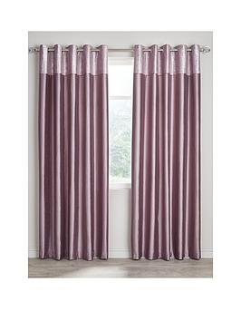 Very Morgan Metallic Top Faux Silk Eyelet Curtains Picture