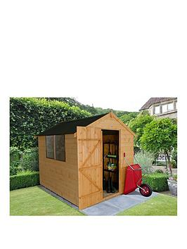 forest-8-x-6ft-apex-corrugated-roof-shiplap-shed-with-base-andnbspassembly