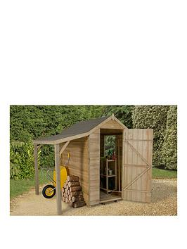 forest-6-x-4ft-overlap-apex-shed-with-window-and-lean-to-pressure-treated