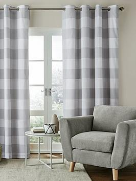 catherine-lansfield-catherine-lansfield-bold-check-lined-eyelet-curtains-90x90