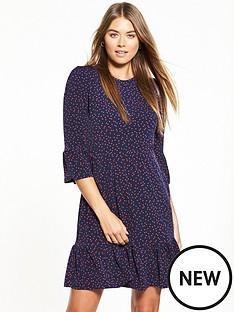 warehouse-spot-print-tiered-dress
