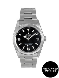 rolex-rolex-pre-owned-explorer-i-black-3-6-and-9-dial-mens-watch-ref-14270