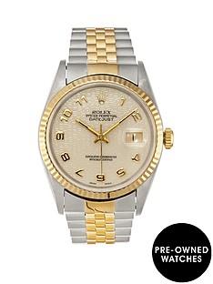 rolex-rolex-pre-owned-datejust-ivory-jubilee-dial-bimetal-mens-watch-ref-16233