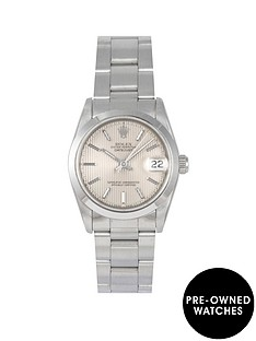 rolex-rolex-pre-owned-midsize-datejust-silver-pinstripe-dial-stainless-steel-mens-watch-ref-68240