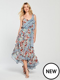 v-by-very-mixed-print-ruffle-midi-dress