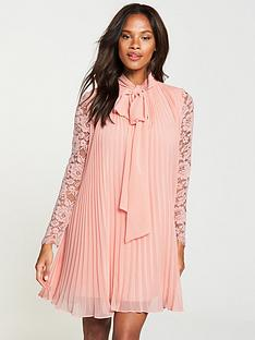 dc3e1bd58cc V by Very Pussybow Lace Dress - Blush