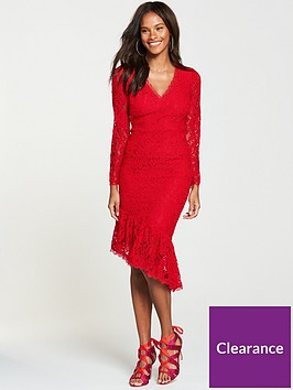 v-by-very-lace-midi-dress-red
