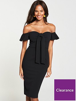 v-by-very-tie-front-bodycon-dress-black-or-yellow