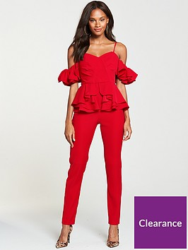 v-by-very-ruffle-jumpsuit-red