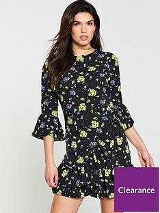 v-by-very-printed-wrap-tea-dress-blacknbsp