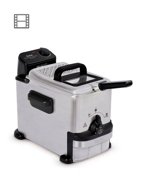 tefal-oleoclean-compact-fr701640-2l-semi-professional-fryer-stainless-steel