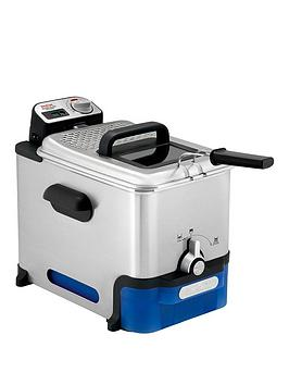 Tefal   Fr804040 Oleoclean Pro Deep Fryer, 1.2Kg Capacity, 2300W, Exclusive Oil Filtration System - Stainless Steel
