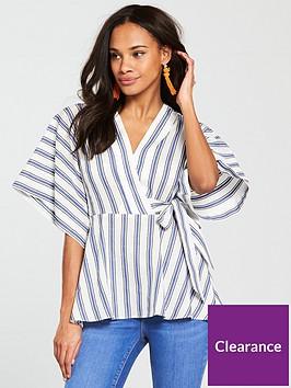 river-island-stripe-tunic-kimono--blue