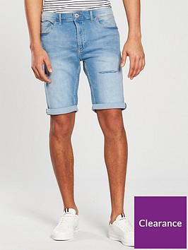 river-island-wave-skinny-ripped-short