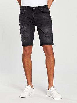 river-island-la-washed-ripped-skinny-short