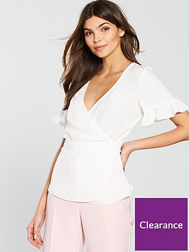 v-by-very-frill-sleeve-wrapnbspblouse-whitenbsp