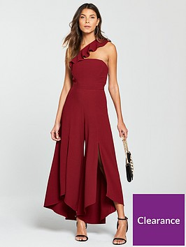 river-island-asymmetric-frill-wide-leg-jumpsuit-red