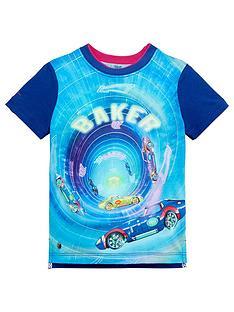 fc0aa38d4e2c86 Baker by Ted Baker Boys Short Sleeve Car Printed T-Shirt