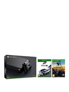 xbox-one-x-consolenbspwithnbspplayerunknowns-battlegrounds-and-forza-7nbspplus-optional-extra-wireless-controller-andor-12-months-live-gold