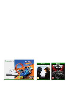 xbox-one-s-1tbnbspconsole-withnbspforza-horizon-3-hot-wheels-halo-5-guardians-and-gow-ultimate-plus-optional-extra-controller-andor-12-months-live-gold