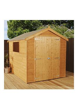 mercia-8-x-6-ft-luxury-shiplapnbspapex-shed-with-window-tongue-amp-groove-roof-and-floor