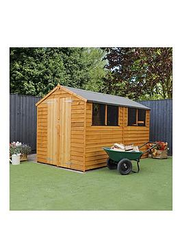 mercia-10-x-6ft-great-value-overlap-apex-shed-with-double-doors-4-windows-andnbspassembly