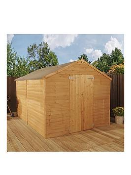 mercia-10-x-8ft-great-value-overlap-apex-windowless-double-door-garden-shed-with-assembly