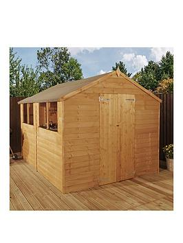 mercia-10-x-8ft-great-value-overlap-apex-shed-with-4-windows-double-door-andnbspassembly