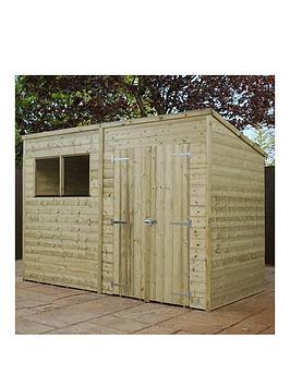 mercia-10-x-8ft-premium-pressure-treated-shiploapnbsppent-roof-shed-with-windows-and-double-door-assembly-included